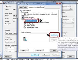 AutoCAD Print / Plot :: Can't Add Custom Paper Sizes