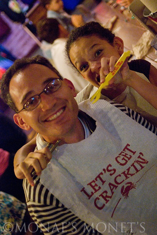 Aaron and Brianna out to eat blog