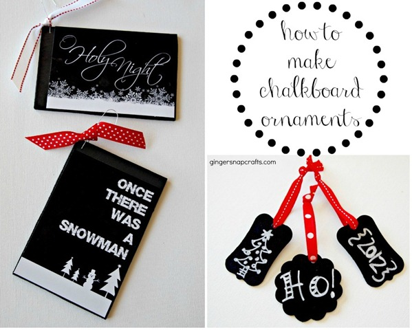 how to make chalkboard ornaments