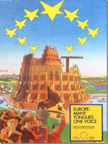 Poster torre de babel UE
