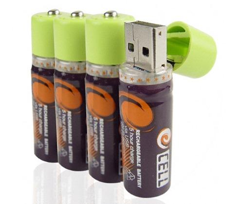 50. USB recargables AA