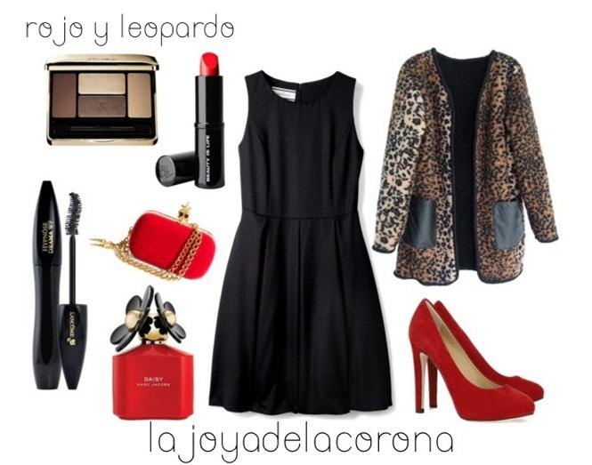 con leopardo y rojo