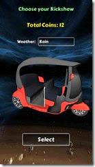 يمكنك إختيار شكل ولون التوك توك الخاص بك وحالة الطقس