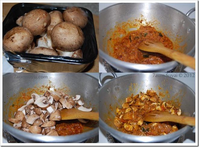 Mushroom curry Process