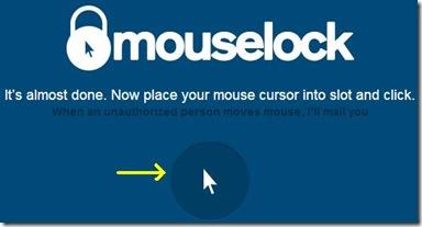 MouseLock posizionare il mouse nell'area di allerta