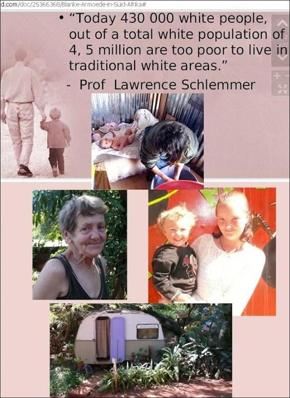 WHITE POVERTY Prof Lawrence Schlemmer 18Jan2010 study