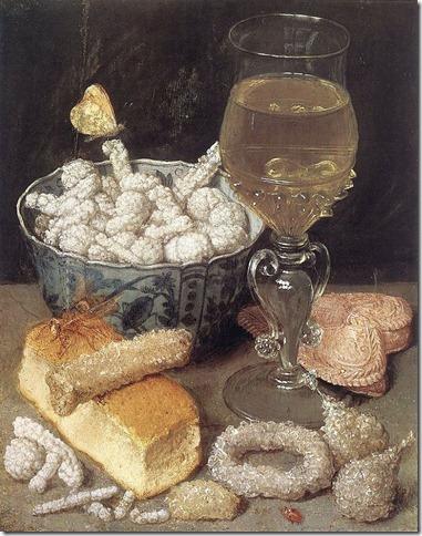 georg flegel - martwa natura z chlebem i słodkościami