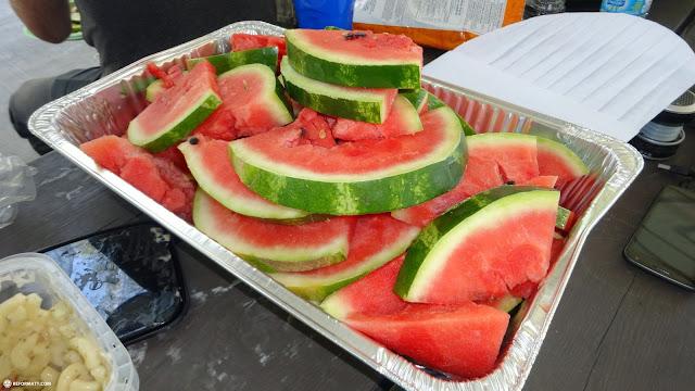 melon slices dessert in Malton, Ontario, Canada