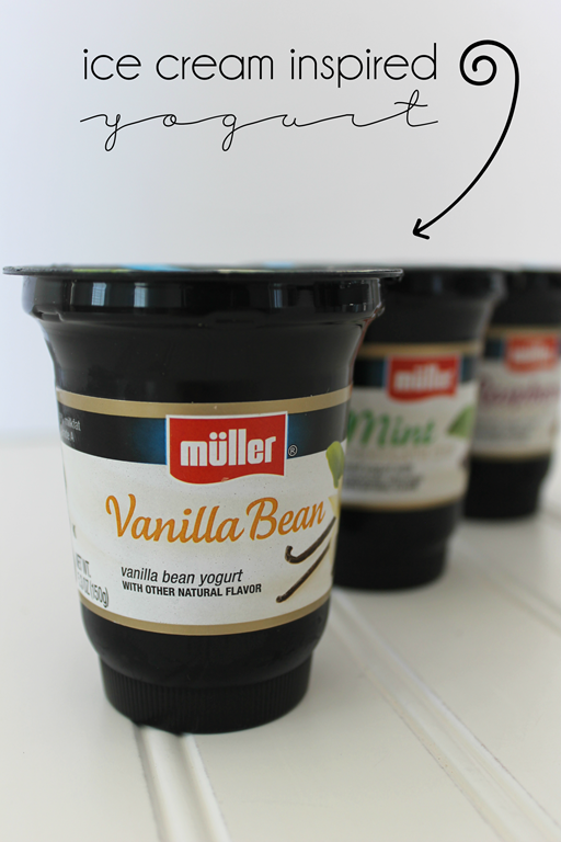 Muller ice cream inspired yogurt