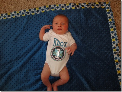 8.  Knox at one month