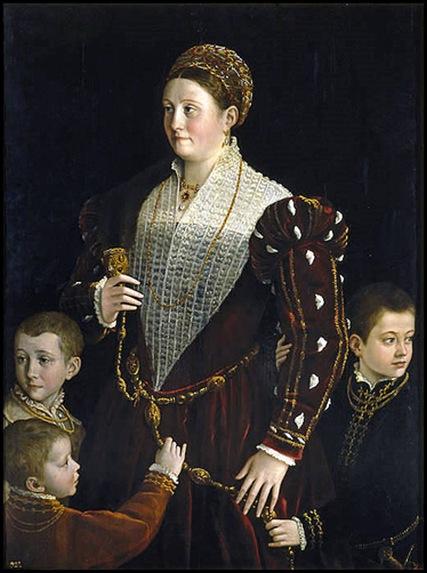 Le Parmesan, Noble dame et ses trois enfants