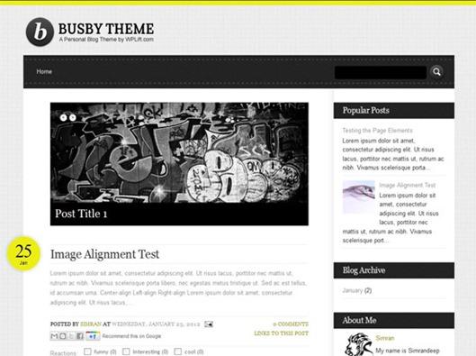 Busby Blogger Teması