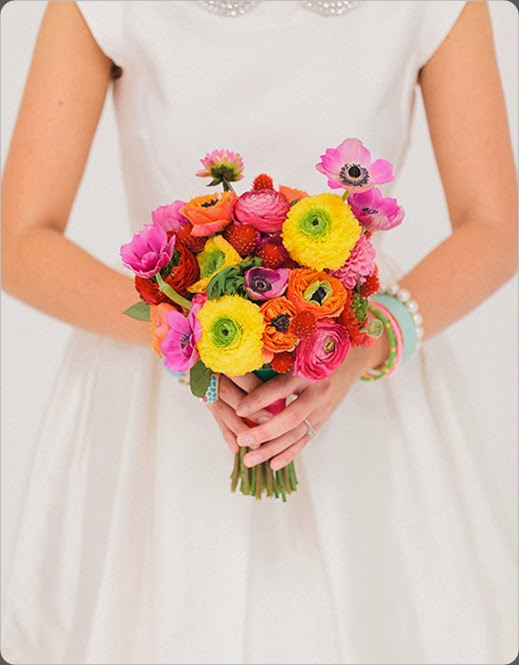 colorfulweddingbouquet Ben Q. Photography. bows and arrows
