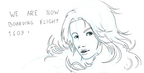 Sketch now boarding the flight back home
