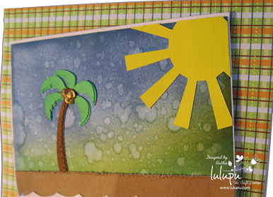 Summer scene card - summer svg files - Lulupu The Craft Lounge - Ruthie Lopez DT. 2