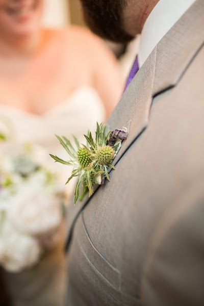NH wedding flowers 28 thistle boutonniere