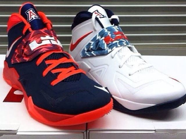 Arizona Wildcats8217 Nike Zoom Soldier VII Home amp Away PEs