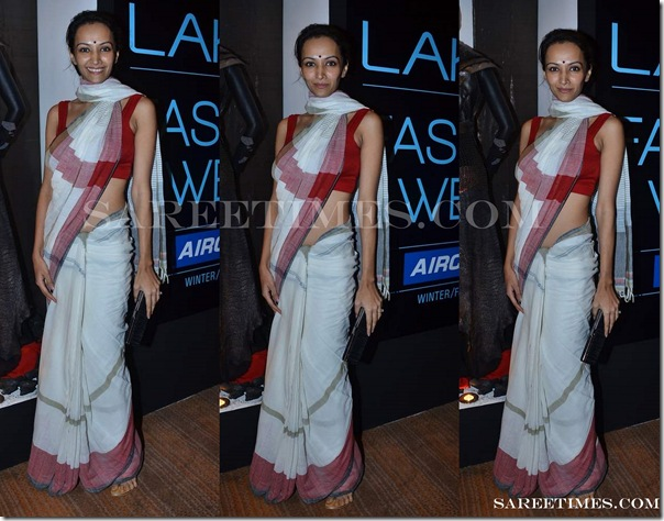Dipannita_Sharma_White_Designer_Saree_Lakme_Fashion_Week