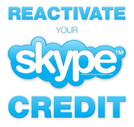 How to Reactivate your Skype Credit