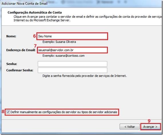 tutorial configuração de email