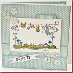 Blått baby kort