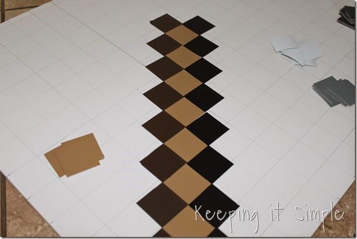 DIY-Foam-Minecraft-Pickaxe-and-Sword (4)