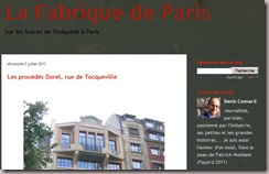 La fabrique de paris - Blog de D.Cosnard