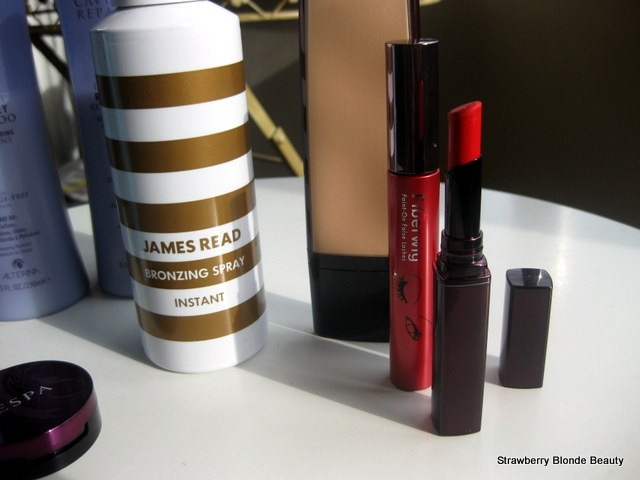 ESPA-lip-balm,James-Read-Spray-Tan,Fibrewig-mascara,Laura-Mercier-Mod,Kevyn-Aucoin-tinted-sensual-balm