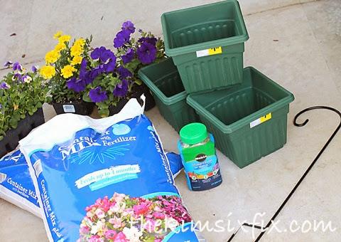 Stacked flowerpot supplies