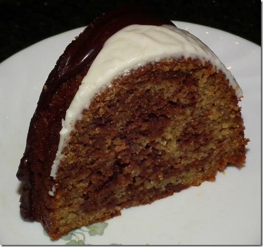 Choco-Banana Marble Bundt Cake 10-25-11