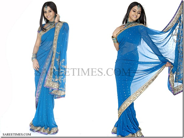Sunitha_Varma_Blue_Saree