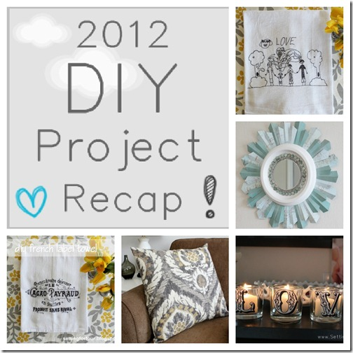 2012 DIY Project Recap from Setting for Four #diy #tutorial