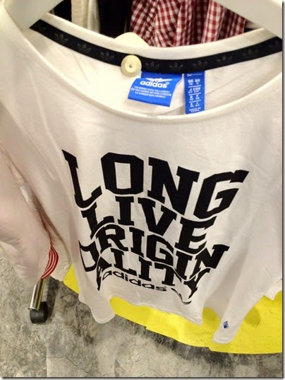adidas Originals slogan tee: Long Live Originality