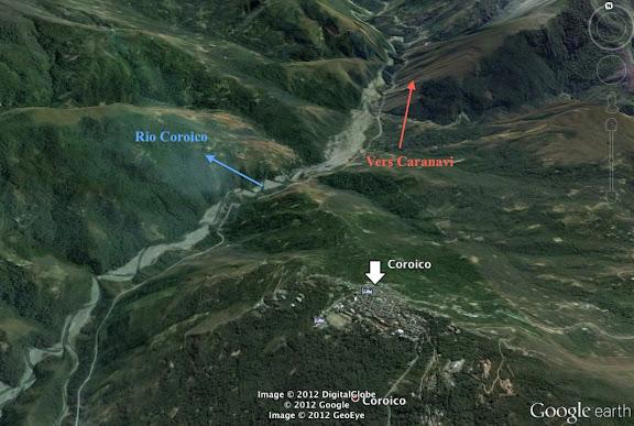 Situation de Coroico (1800 m)