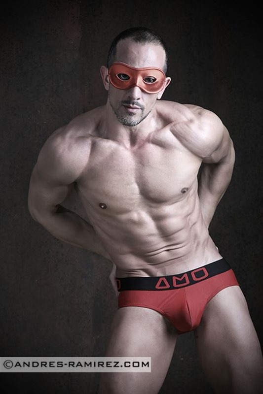 sexy guy in red AMU briefs