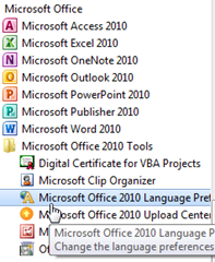 การตั้งค่าภาษาไทยให้ office 2010