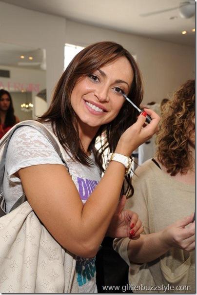 Karina Smirnoff applying CoverGirl makeup
