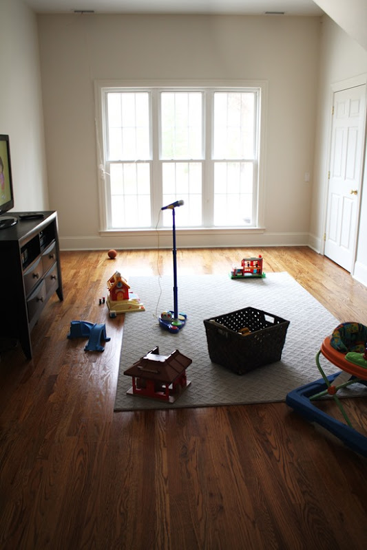 SmartStrand carpet bound rug in playroom