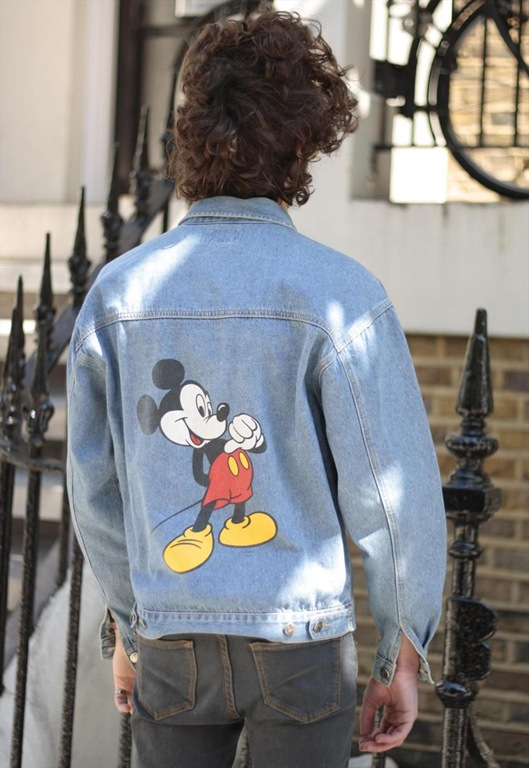 Vintage Mickey Mouse Denim Jacket, £45, Sam Greenberg Vintage