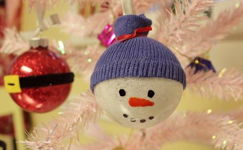 Glitter Snowman Ornament