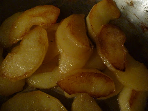 Caramelized apples.