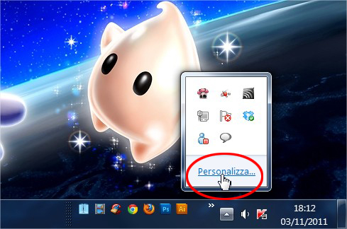 Come eliminare le icone vicino allorologio su Windows