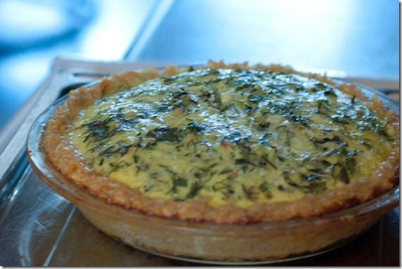 Herbed Zucchini and Feta Quiche with a Brown Rice Crust from Closet ...