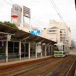 street car station in hiroshima in Hiroshima, Hirosima (Hiroshima), Japan