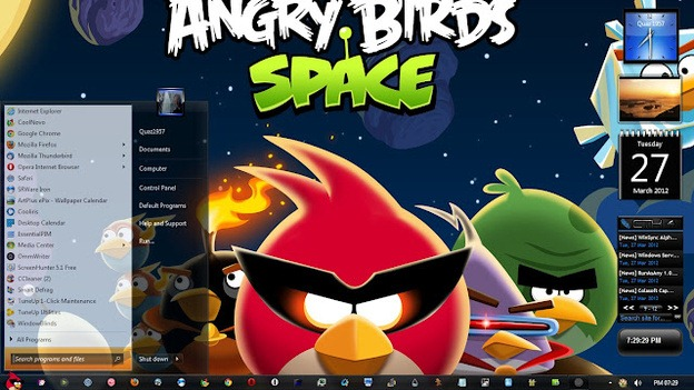 Angry Birds Space Theme for Windows 7 & Windows 8