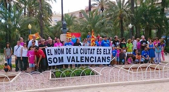 Elx manifestacion per restablir lo nom valencian