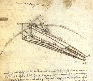 leonardo flying machine design