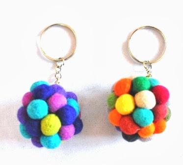 Felt Key ring ball