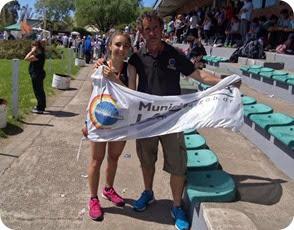 Abril Freire se quedó con la presea de plata, tras quedar segunda en la prueba de 800 mts
