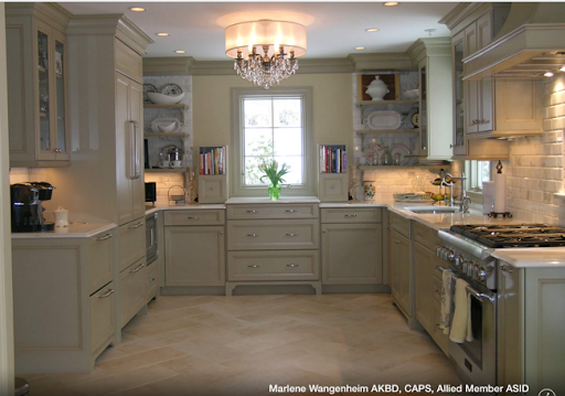Taupe And Greige And Grey Kitchens on orange granite countertops